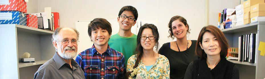 From left: Bob Fischer, Ping-Hung Hsieh, Samuel Lin, Juhyun Shin, Jennifer Frost, and Yeonhee Choi